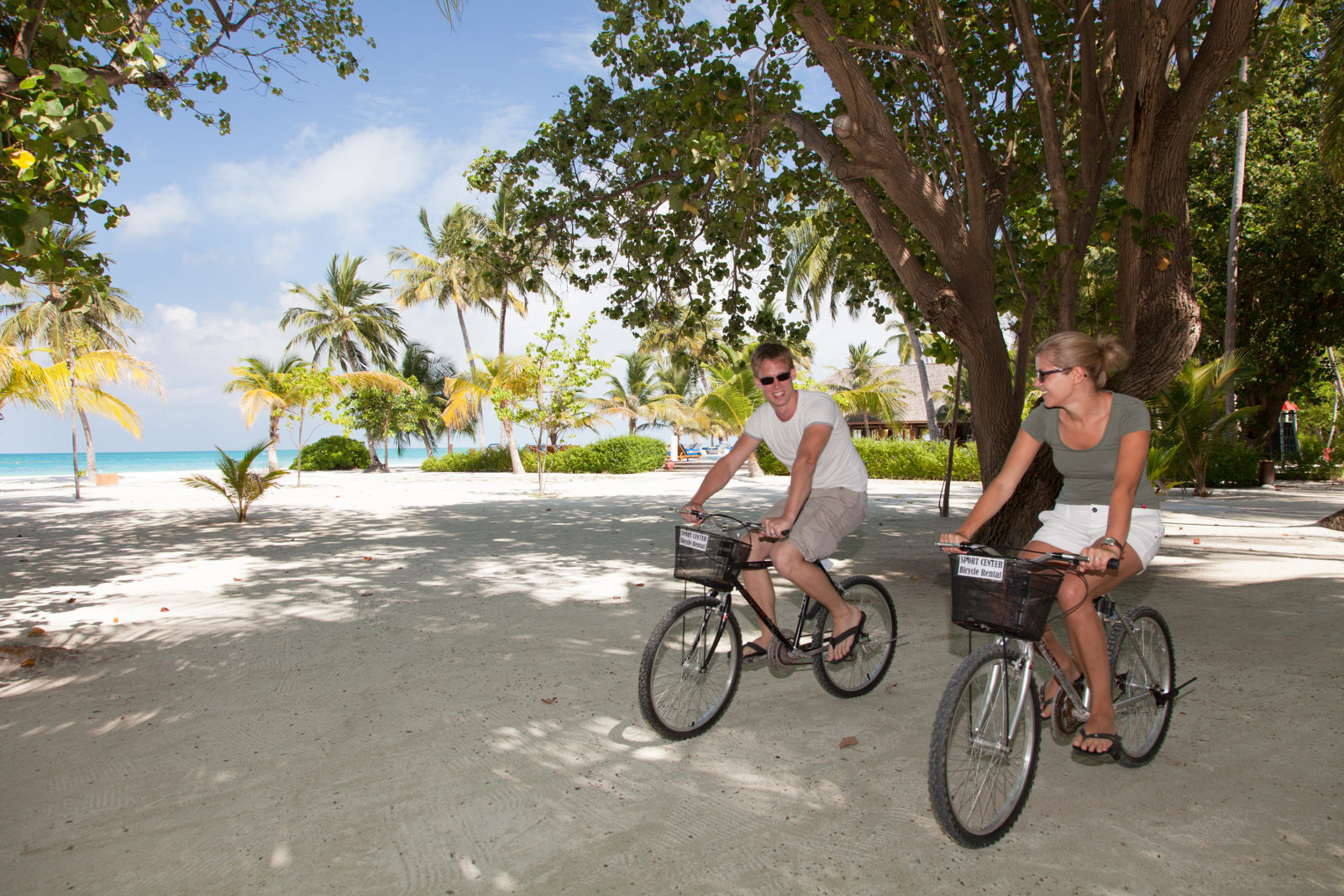 Bicycle rental in the Maldives