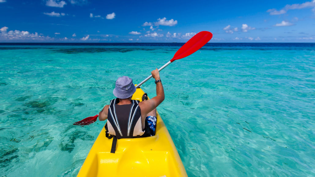 Kayaking in the Maldives
