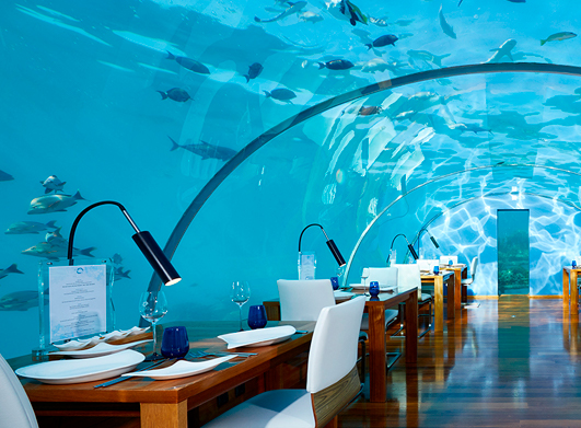 Book spa and underwater restaurants in advance for free